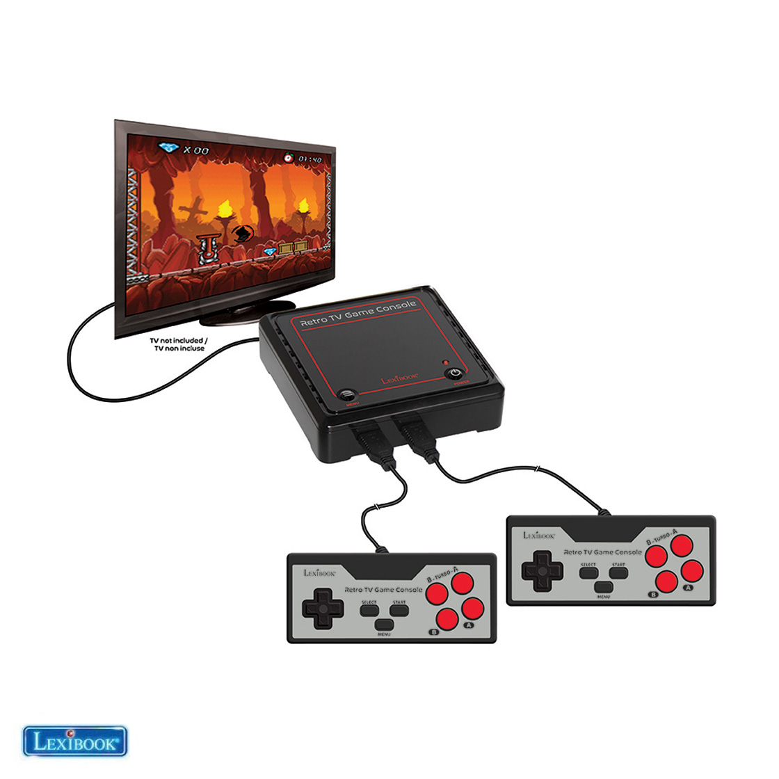 Toys : Plug 'N Play TV Game Console - 300 games