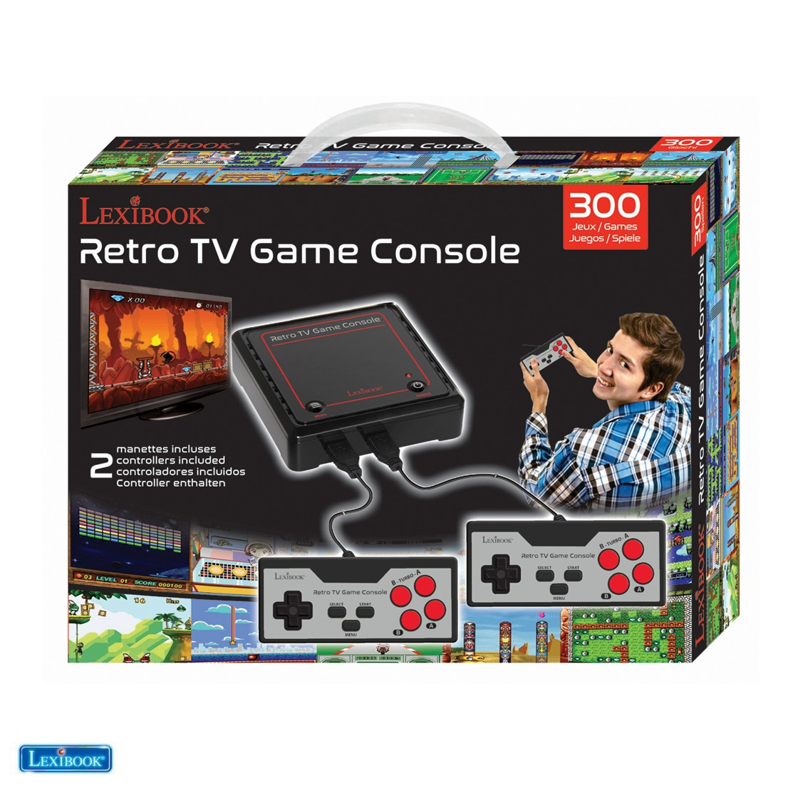 Tv Games Plug And Play : Toys plug n play tv game console with games